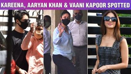 Cautious Kareena Does Not Remove Mask, Aaryan Khan Visits A Clinic, Vaani Kapoor At Private Airport