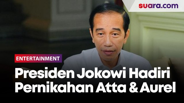 Momen Kedatangan Presiden Jokowi Jadi Saksi di Pernikahan Atta dan Aurel