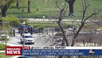 2 police officers injured at US Capitol