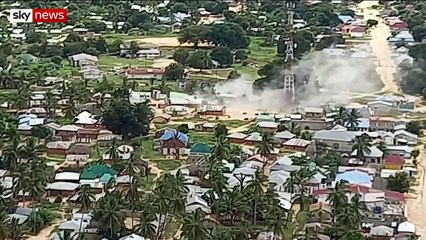 Islamic State attack in Mozambique revealed in exclusive new footage