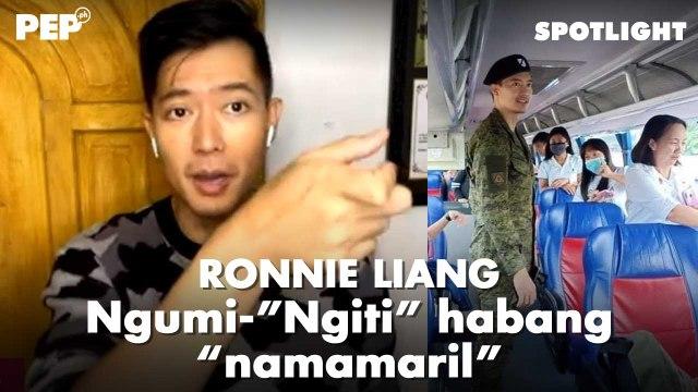 """Ronnie Liang kumakanta ng """"Ngiti"""" habang """"namamaril"""" PEP Spotlight"""