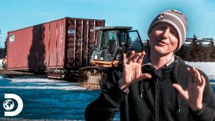 Transporte de contêiner enorme para construir casa   Alasca: A Última Fronteira   Discovery Brasil