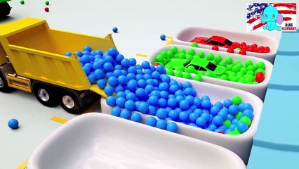 Learn colors with cars for Children Balls Education track parking vehicle