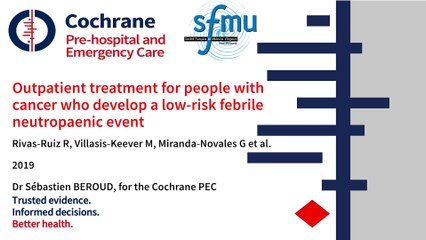 PEARL_Outpatient treatment for people with cancer who develop a low-risk febrile neutropaenic event (Pitch)