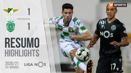 Highlights: Moreirense 1-1 Sporting (Liga 20/21 #25)