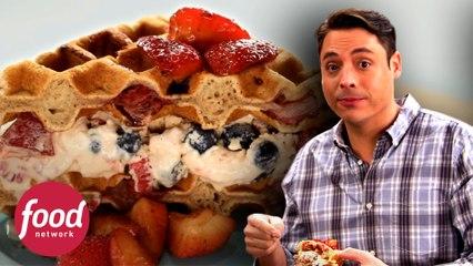 Delicioso sándwich de waffles con helado | El rey del sándwich | Food Network Latinoamérica