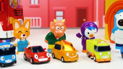 Learning Video Pororo the Little Penguin Toys for Kids - School Bus and Fire Truck