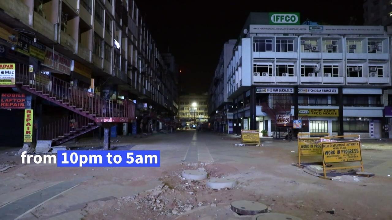 New Delhi under pandemic night curfew
