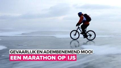 Epische wintersport: IJsmarathon