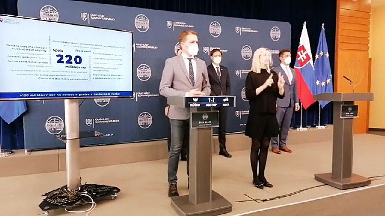 ZÁZNAM: TK o pomoci gastru a cestovnému ruchu po rokovaní Vlády SR