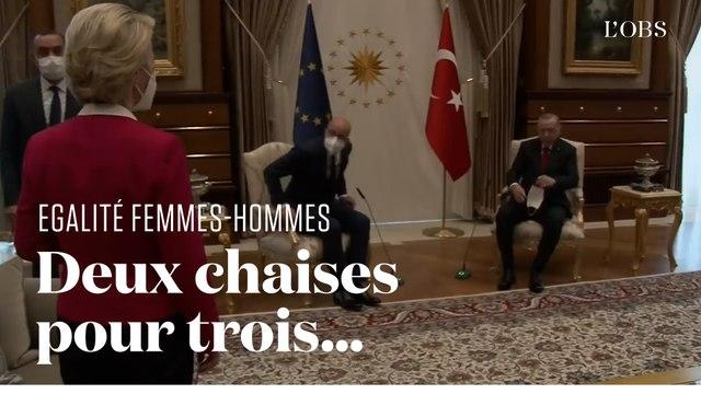Ursula von der Leyen privée de chaise au côté d'Erdogan au profit de Charles Michel