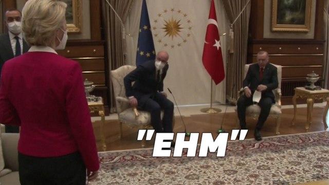 Ursula von der Leyen victime d'un incident protocolaire en pleine réunion avec Erdogan