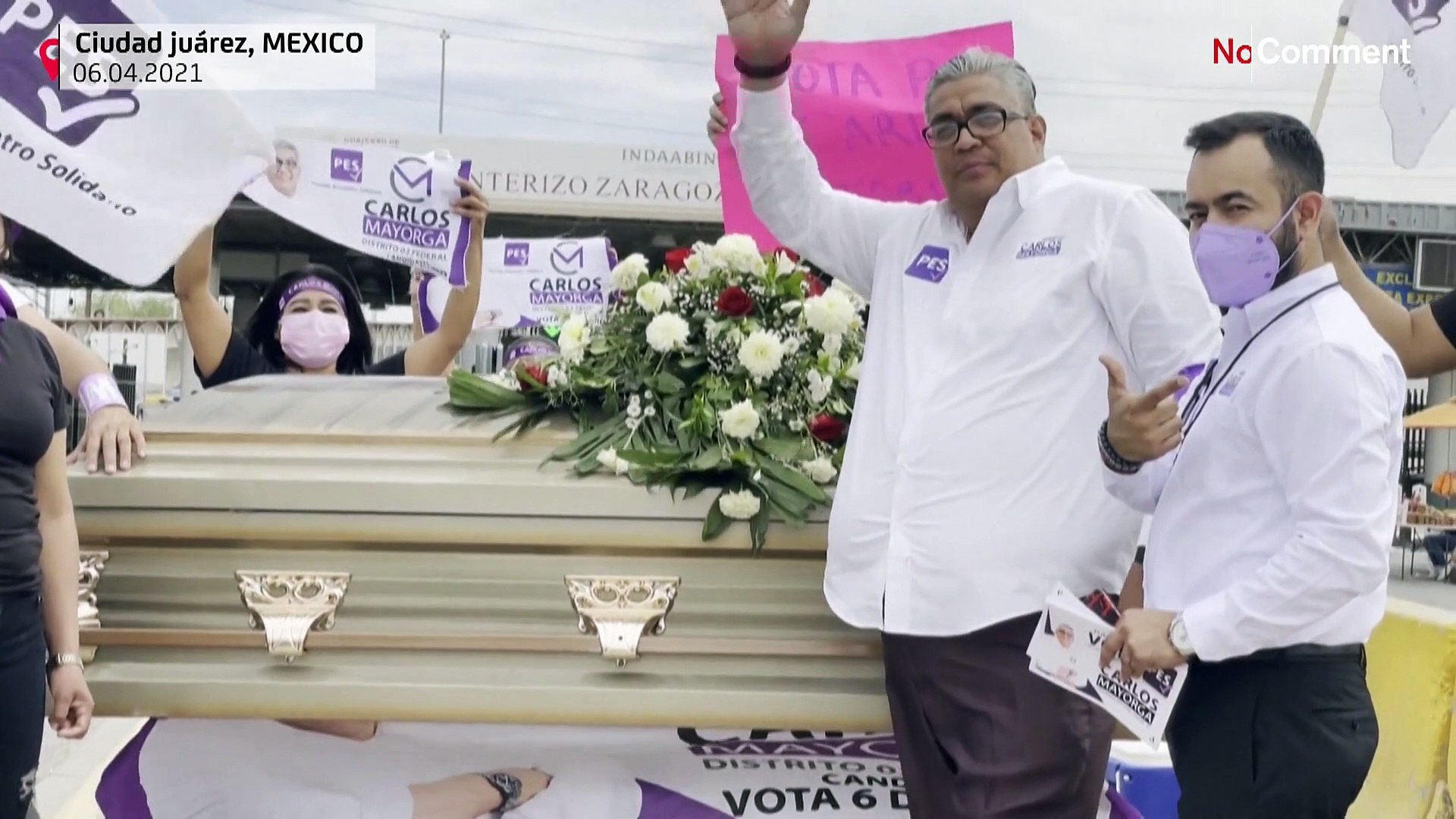 Candidate kicks off campaign in northern Mexico inside a coffin - video  Dailymotion