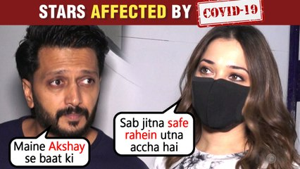 Riteish Deshmukh & Tamannaah Bhatia REACT To Akshay Kumar & Bollywood Stars Tested Covid Positive
