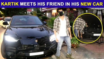 Kartik Aaryan & His Friend Touches New Car's Tyre And Seek Blessings | Humble Gesture Caught On Cam