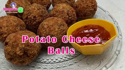 Potato Cheese Balls Recipe | How to Make Potato Cheese Balls at home easily? | Crispy Potato Cheese Balls in Telugu | Maguva TV