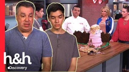 Estructura de su pastel colapsa justo antes de presentarlo | Hornea como Buddy | Discovery H&H