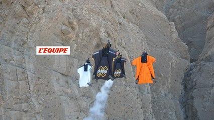 Le premier saut en wingsuit/base jump de Loïc Jean Albert depuis 14 ans - Adrénaline - Base jump