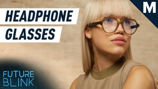 These glasses come with tiny speakers — Future Blink