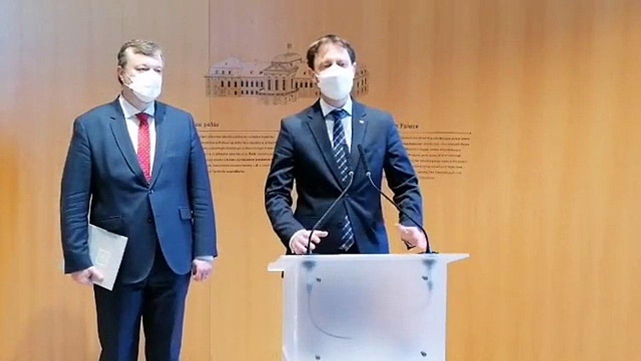 ZÁZNAM: Vyhlásenie premiéra E. Hegera a ministra práce M. Krajniaka