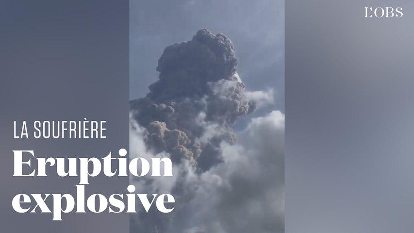 L'éruption du volcan la Soufrière à Saint-Vincent et les Grenadines en vidéo
