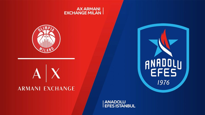AX Armani Exchange Milan - Anadolu Efes Istanbul Highlights | Turkish Airlines EuroLeague, RS Round 34