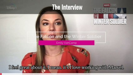 The Falcon and the Winter Soldier Interview with Emily VanCamp  (Captioned)