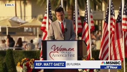 Defiant Gaetz Tells Women's Group He Won't Be Intimidated