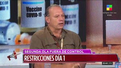 Sergio Berni hablando sobre Frederic