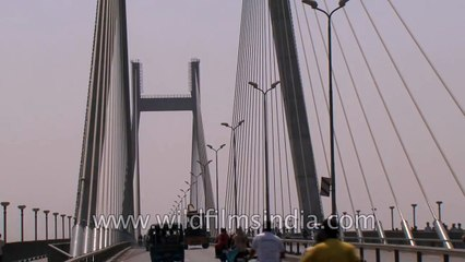 Driving over Naini Bridge, Allahabad