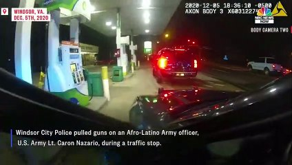 WATCH Police Pull Guns On Afro-Latino Army officer In Traffic Stop