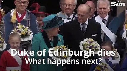 What happens next after Prince Philip's death