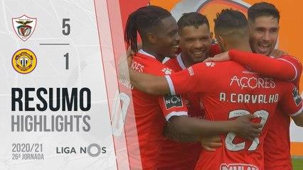 Highlights: Santa Clara 5-1 CD Nacional (Liga 20/21 #26)