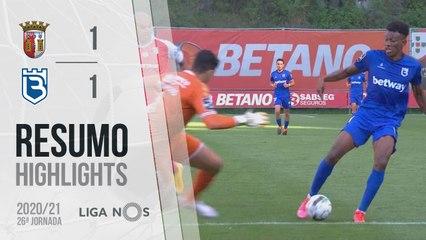 Highlights: SC Braga 1-1 Belenenses SAD (Liga 20/21 #26)