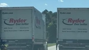 Couple Gets Angry At Two Trucks As They Drive Next To Each Other And Block Lanes