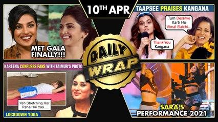 Kangana Praises Taapsee, Sara's Performance, Taimur Does Yoga, Janhvi Trolled For Bikini|Top 10 News