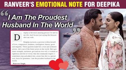 Ranveer Singh Gets EMOTIONAL For Deepika Padukone, Says, 'I Am The Proudest Husband'