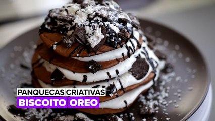 Panquecas criativas: Chocolate Oreo