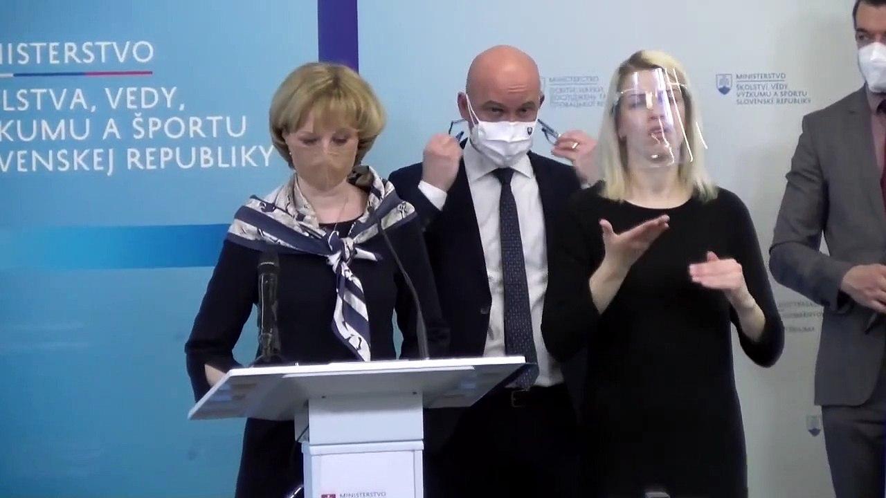 ZÁZNAM: TK ministra školstva  Branislava Gröhlinga
