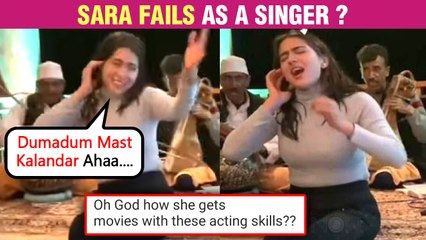 Sara Ali Khan Showcases Her Singing Talent | Netizens Pass MEAN Comments | Gets Trolled