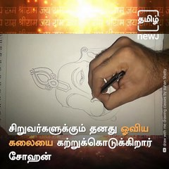 How To Draw Lord Hanuman Face With Simple Pencil