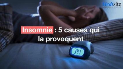 Insomnie : 5 causes qui la provoquent