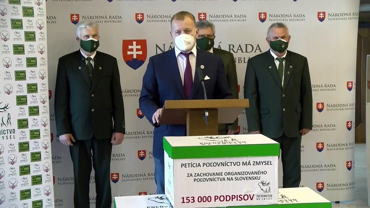 ZÁZNAM: TK predsedu Národnej rady SR Borisa Kollára k petícii poľovníkov