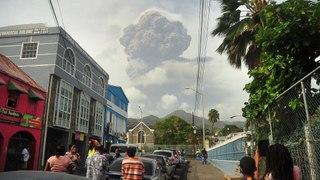 St Vincent rocked by explosive eruptions of La Soufrière volcano