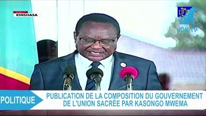 Publication de la composition du Gouvernement de l'Union sacrée en RDC