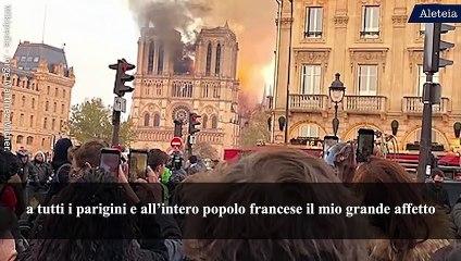 Papa: la ricostruzione di Notre-Dame sia un'opera corale