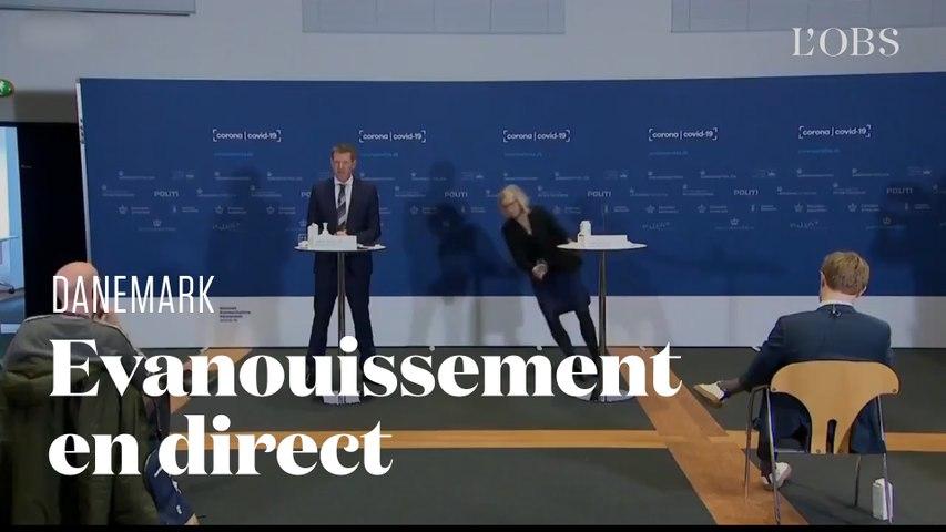 La directrice de la pharmacovigilance au Danemark s'évanouit en direct d'une conférence de presse
