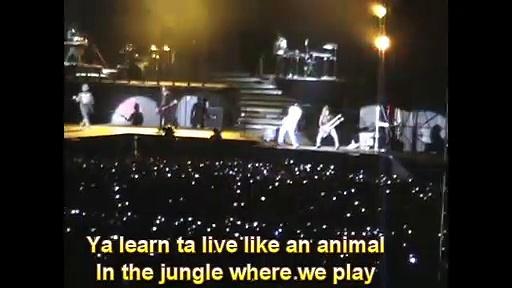 Welcome to The Jungle Live Lima 2010 w/Lyrics Guns N' Roses