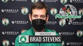 Brad Stevens Reacts to Celtics Bench COLLAPSE