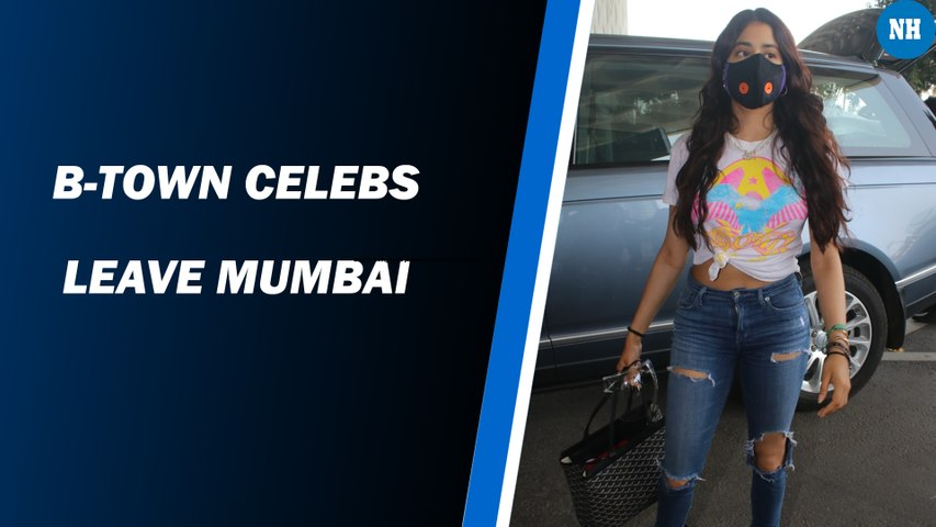 B-town celebs leave Mumbai
